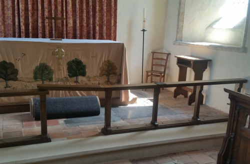 Altar rail, Burnham Norton church, Norfolk