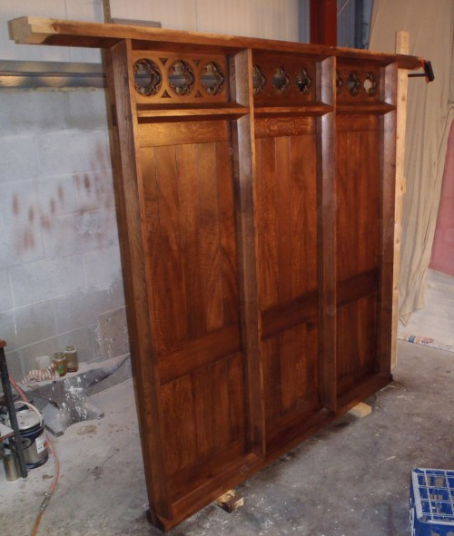 Oak screen - installation