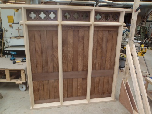 Oak screen - construction
