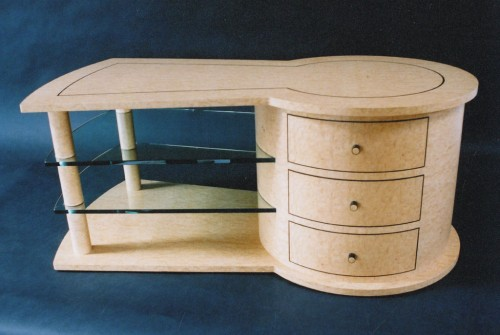 Keyhole coffee table