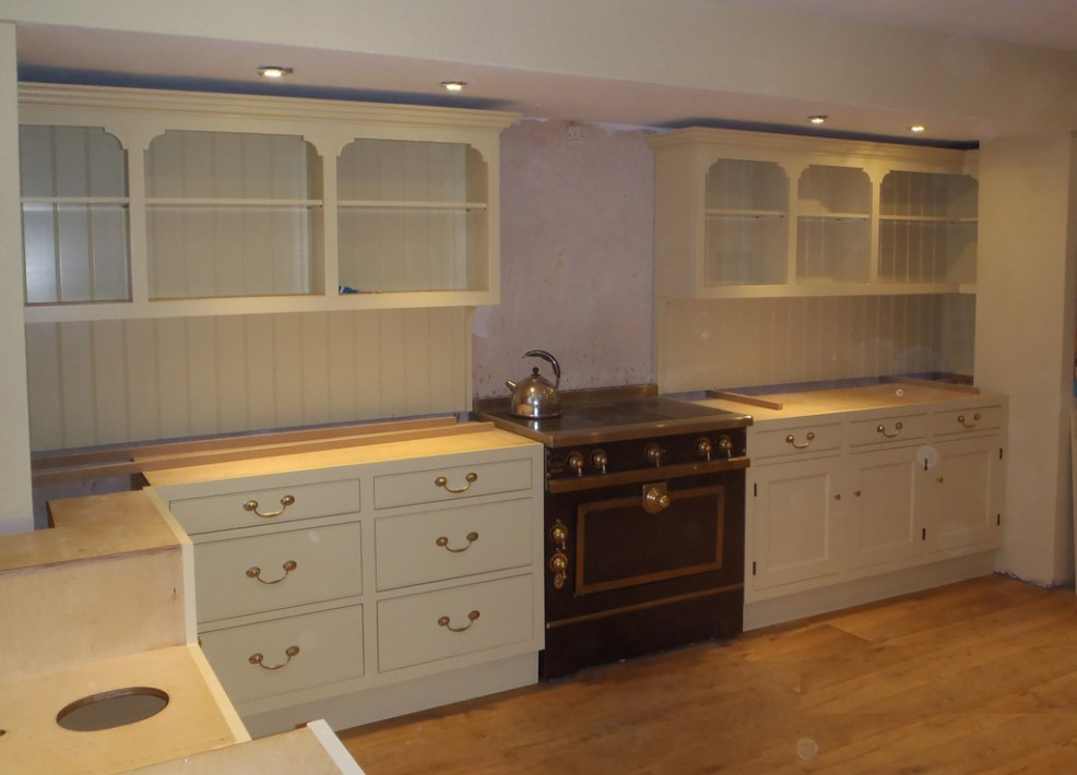 Painted beech kitchen