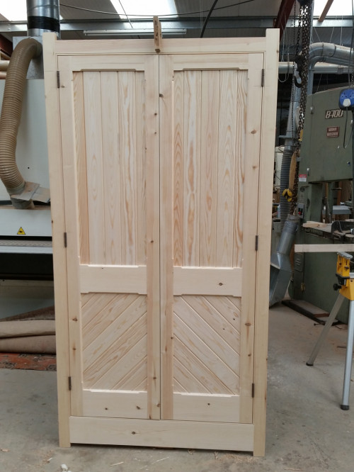 Victorian-style cupboard prior to finishing