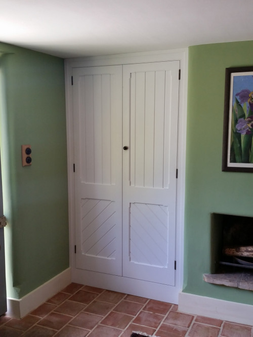Victorian-style cupboard installed and painted
