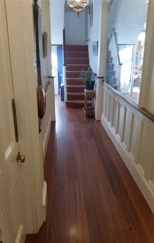 Reflooring to hallway, completion