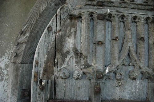 Church door conservation work