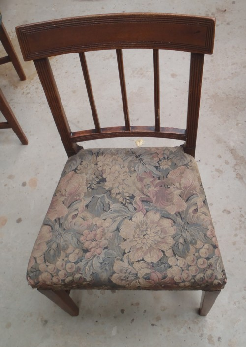 Dining chair reupholstered