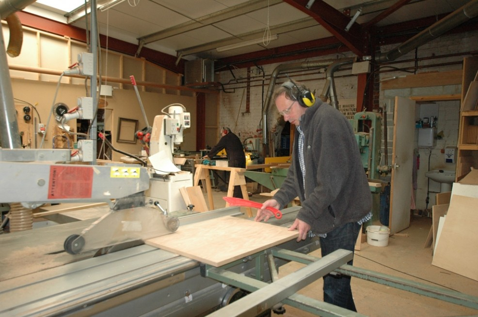 David Bartram in the workshop